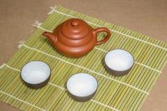 Théière et tasse de thé Photos libres de droits