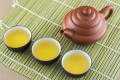 Théière et tasse de thé Photo stock