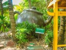 Théière géante chez Hot Springs chez Hainan images libres de droits