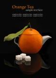Théière orange Photos libres de droits