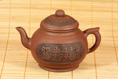 Théière pour la préparation de thé Photo libre de droits