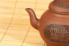 Théière pour la préparation de thé Photographie stock