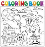 Thématique 1 de Halloween de livre de coloriage Images libres de droits