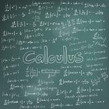 Théorie de loi de calcul et équation de formule mathématique, griffonnage ha Photos libres de droits