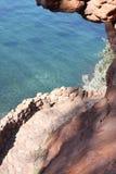 Théoule苏尔梅尔法国海滨 库存图片