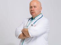 Thérapeute de docteur d'isolement sur le blanc Photos stock