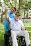 thérapie aînée physique de session Image stock