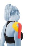 Thérapie d'épaule avec la bande de tex Photographie stock libre de droits