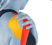 Thérapie d'épaule avec la bande de tex Photo libre de droits