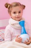 Thérapie d'inhalation Photographie stock