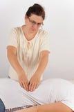 Thérapie de Bowen - traitement arrière image libre de droits