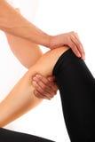 Thérapie de genou Photographie stock libre de droits