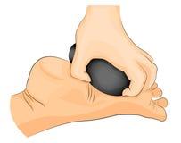 Thérapie en pierre de pied massage photographie stock libre de droits