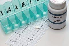 Thérapie quotidienne d'Aspirin Photos libres de droits