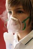 Thérapie respiratoire Image libre de droits
