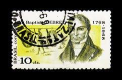 200th生日Debret我, serie,大约1968年 免版税库存照片
