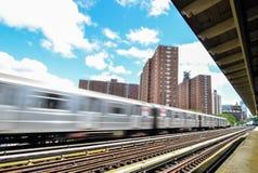 125th街道的纽约地铁 免版税图库摄影