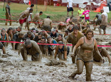 21th †annuel de Marine Mud Run « le puits de boue Images libres de droits