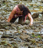 21th †annuel de Marine Mud Run « rampant Photos libres de droits