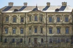 17th århundrade för gammal medeltida Pidhirtsi slott i Ukraina Royaltyfria Bilder