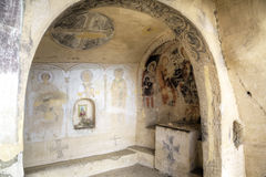 13th århundrade för vägg- målning, David Gareja och Udabno kloster Royaltyfria Foton
