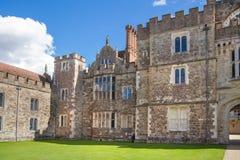 15th århundrade Sevenoaks för gammal engelsk herrgård Klassiskt engelskt bygdhus Arkivfoto