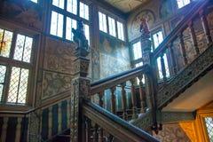 15th århundrade Sevenoaks för gammal engelsk herrgård Klassiskt engelskt bygdhus Arkivfoton