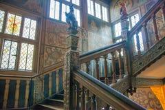 15th århundrade Sevenoaks för gammal engelsk herrgård Klassiskt engelskt landssidohus UK Arkivbilder