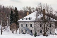 19th århundrade Smith House på monteringskungliga personen, Montreal Royaltyfria Foton
