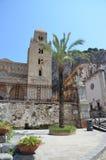 13th århundradeCefalu domkyrka i Cefalu, Sicilien Royaltyfri Foto