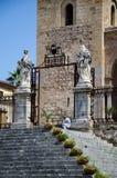 13th århundradeCefalu domkyrka i Cefalu, Sicilien Royaltyfria Foton
