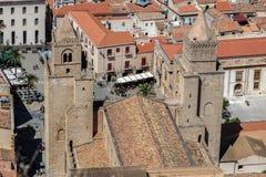 13th århundradeCefalu domkyrka i Cefalu, Sicilien, Italien Royaltyfria Foton