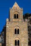 13th århundradeCefalu domkyrka i Cefalu, Sicilien, Italien Royaltyfri Fotografi
