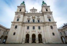 17th århundradedomkyrka av Salzburg, Österrike Arkivfoton