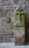 13th århundradegränsstolpe, Ypres, Belgien royaltyfri foto