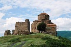 6th århundradeJvari kloster i Mtskheta, Georgia Royaltyfri Foto