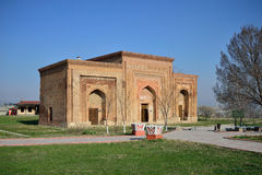 12th århundradeKarakhanid mausoleum Arkivbilder