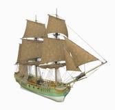 18th århundradekorvettskepp Arkivfoton