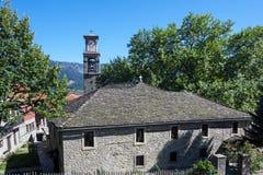 13th århundradekyrka, Metsovo, Grekland Arkivfoto