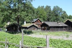 16th århundradelantgård Arkivfoto