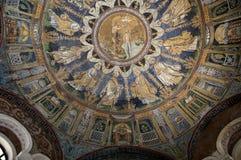 10th århundrademosaik i Ravenna Italien Arkivbilder