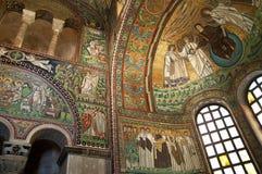 10th århundrademosaik i Ravenna Italien Royaltyfria Bilder