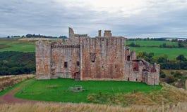15th århundradeslott för skotte, Crichton slott Arkivbilder