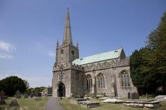 13th århundradesomerset kyrka Arkivfoto