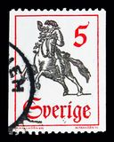 18th århundradeStolpe-ryttare, Definitives serie, circa 1967 Arkivbild