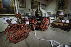 Firefighting i New York vid Newet York City avfyrar museet royaltyfri bild