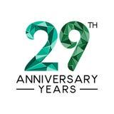 29th årsdagår gör sammandrag den moderna fulla sänkan för triangeln royaltyfri illustrationer