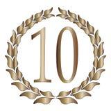 10th årsdag royaltyfri illustrationer