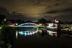 60th årsdag av bron över Adda River Arkivfoto