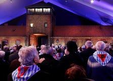 70th årsdag av den Auschwitz befrielsen Arkivfoton